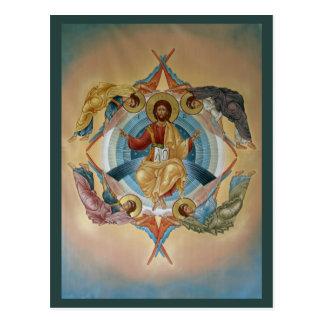 Ascension de carte de prière du Christ Carte Postale