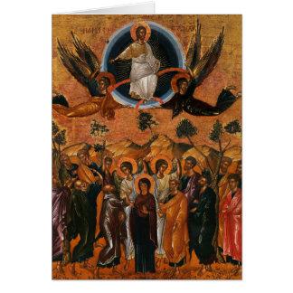 Ascension de Jésus au ciel Carte De Vœux