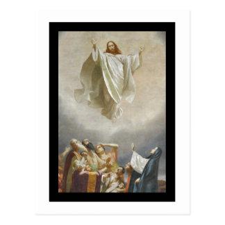 Ascension du Christ au ciel observé par des Carte Postale