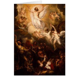 Ascension du Christ avec des anges Carte De Vœux