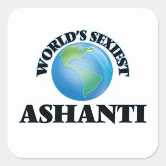 Ashanti le plus sexy du monde autocollant carré