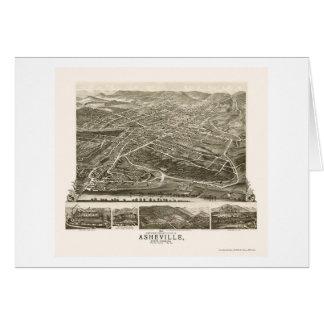 Asheville, carte panoramique d'OR - 1891
