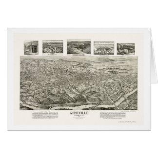 Asheville, carte panoramique d'OR - 1912