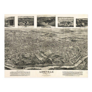Asheville, carte postale 1912 d'OR
