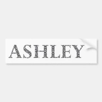 Ashley nom damassé motif noir et blanc autocollant pour voiture