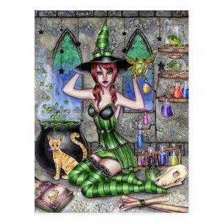 Ashlyn - carte postale de sorcière de breuvage