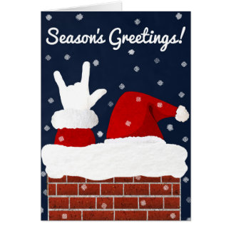 ASL Père Noël avec je t'aime la carte de Noël de