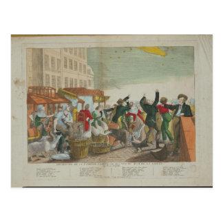 Aspect de la grande comète en 1811 carte postale