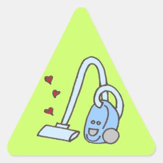 Aspirateur avec des coeurs sticker triangulaire