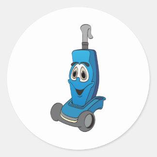 Aspirateur bleu sticker rond
