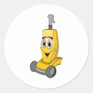 Aspirateur jaune sticker rond