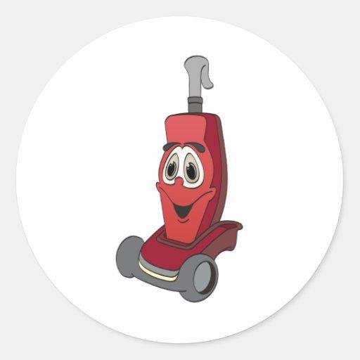 Aspirateur rouge autocollants ronds