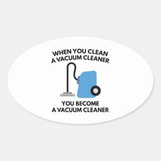 Aspirateur Sticker Ovale