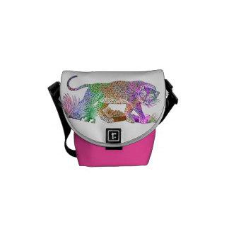 Aspiration artistique de léopard coloré besace