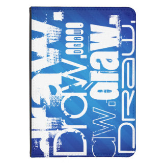 Aspiration, rayures bleues royales coque kindle touch