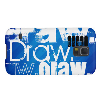 Aspiration, rayures bleues royales coque pour samsung galaxy s5