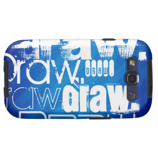 Aspiration, rayures bleues royales coque samsung galaxy s3