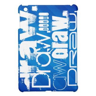 Aspiration, rayures bleues royales coque pour iPad mini