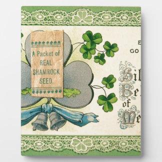 Aspiration vintage d'Irlandais du jour de St Plaques D'affichage