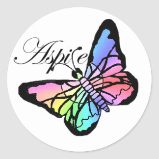 Aspire~Butterfly Sticker Rond