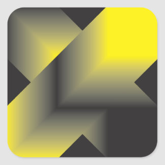 Aspirer de noir au jaune autocollant carré