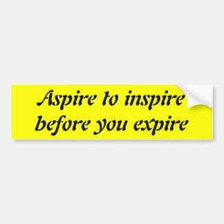 Aspirez pour inspirer avant que vous expiriez autocollant de voiture