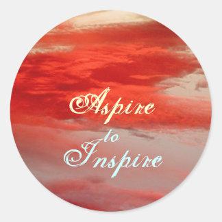 """""""Aspirez pour inspirer"""" l'autocollant Sticker Rond"""