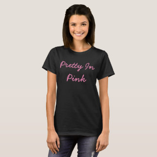 Assez dans la pièce en t de base des femmes roses t-shirt