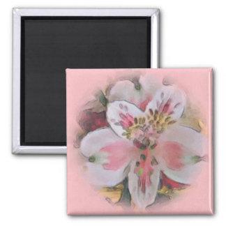 Assez dans l'aimant rose de bouquet floral