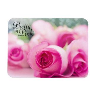 Assez dans les roses roses magnet flexible