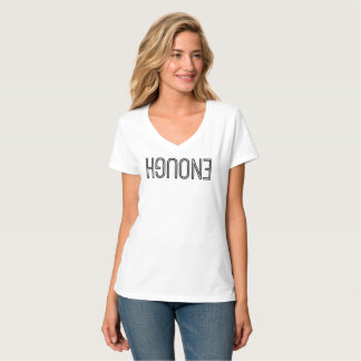 """""""Assez"""" de T-shirt nano de V-Cou"""