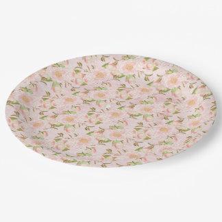 Assez floral assiettes en papier