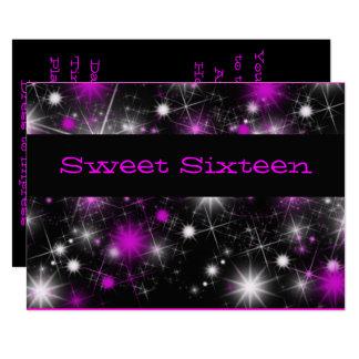 Assez, invitation pourpre et noire de sweet