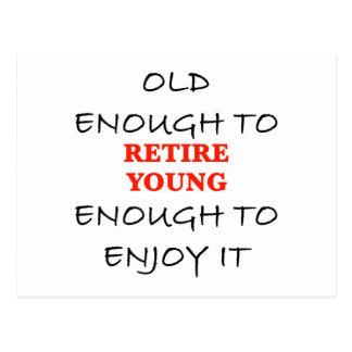 Assez jeunes à retirer carte postale