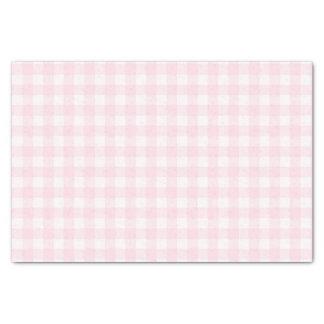Assez pâle - motif vérifié par guingan rose papier mousseline
