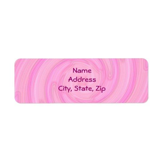 Assez pâle - remous girly rose étiquette d'adresse retour
