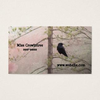 Assez rose et corneille cartes de visite