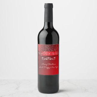 Assez, Tis la saison, rouge de Noël, coutume Étiquette Pour Bouteilles De Vin