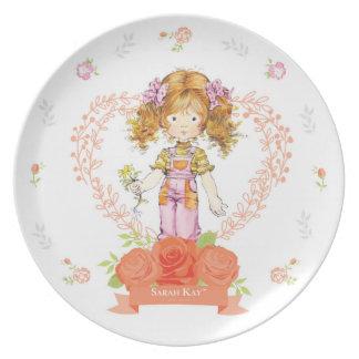 Assiette Abricot du plat #2 de porcelaine de Sarah Kay