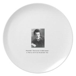 Assiette Alexandre Borisovich Goldenweiser