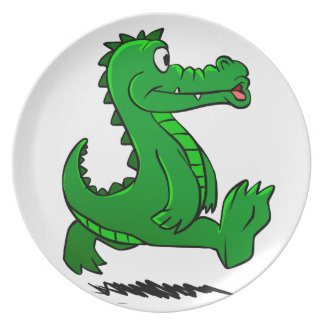Assiette Alligator courant
