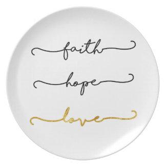 Assiette Amour d'espoir de foi