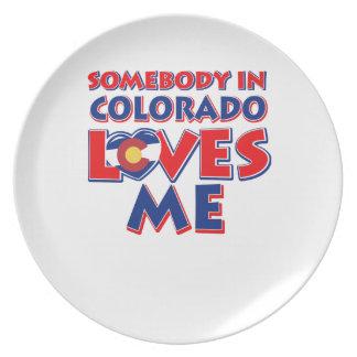 Assiette amour du Colorado