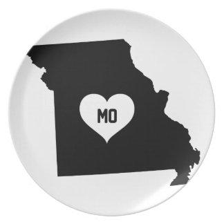 Assiette Amour du Missouri