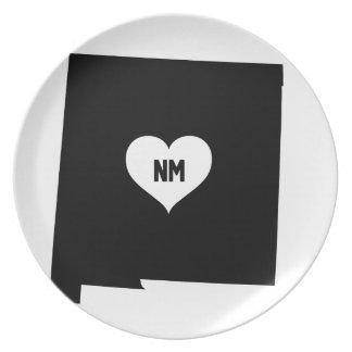 Assiette Amour du Nouveau Mexique