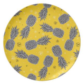 Assiette Ananas sur l'or