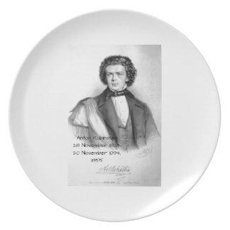 Assiette Anton Rubinstein 1855