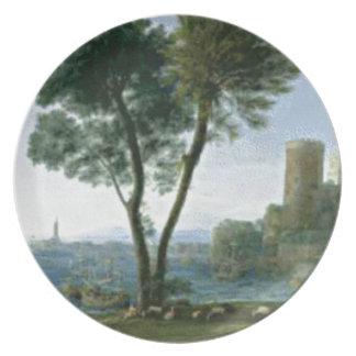 Assiette arbre sur le rivage