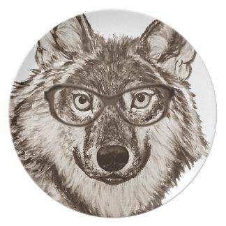 Assiette Art de ballot de loup
