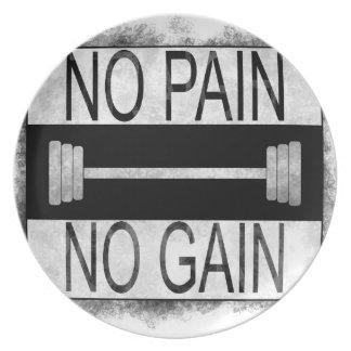 Assiette Aucune douleur aucun gain